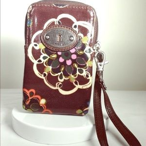 Fossil Key-Per Cell Phone Wristlet